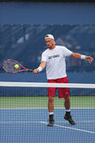 Two times Grand Slam Champion Lleyton Hewitt practices for US Open 2014 Stock Photos