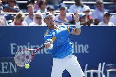 Two times Grand Slam champion Lleyton Hewitt practices for US Open 2013 Royalty Free Stock Image