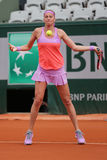 Two times Grand Slam champion Petra Kvitova in action during her second round match at Roland Garros 2015 Stock Images