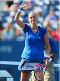 Two times Grand Slam champion Petra Kvitova celebrates victory after US Open 2014 Royalty Free Stock Photo