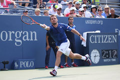 Two times Grand Slam champion Stanislas Wawrinka of Switzerland in action during his match at US Open 2015 Stock Image