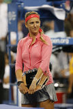 Two times Grand Slam champion and US Open 2013 finalist Victoria Azarenka during trophy presentation Stock Photos