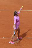 Two times Grand Slam champion Victoria Azarenka of Belarus in action during her second round match at Roland Garros Stock Photo