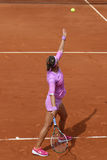 Two times Grand Slam champion Victoria Azarenka of Belarus in action during her second round match at Roland Garros Royalty Free Stock Photography