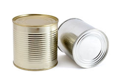 Two tin cans Royalty Free Stock Photo