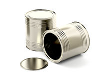 Two tin cans Royalty Free Stock Photography