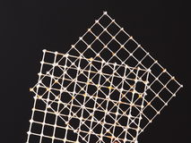 Two tin wire grids with practice solder joints Royalty Free Stock Image