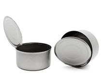 Two tins Stock Photography