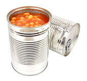 Two Tins Of Baked Beans Royalty Free Stock Photos