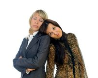 Two tired business women Royalty Free Stock Photos