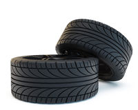 Two tires Royalty Free Stock Images