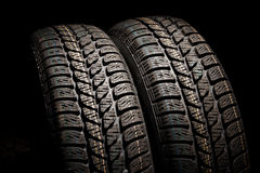 Two tires close up Royalty Free Stock Photos