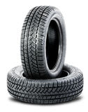 Two tires on the white background Stock Photo