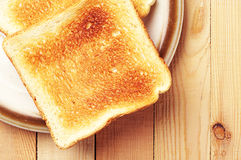 Two toast bread Stock Images