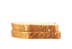 Two toast bread slices Stock Photo