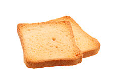 Two toasted bread slice Royalty Free Stock Photos