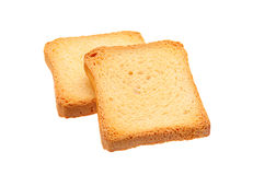 Two toasted bread slice Royalty Free Stock Photo