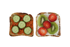 Two toasts Stock Images