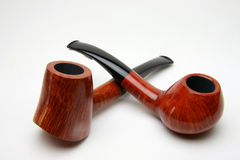 Two tobacco pipes stock photos