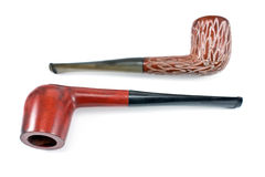 Two tobacco pipes Stock Images