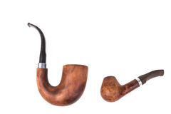 Two tobacco pipes Royalty Free Stock Image