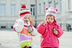 Two toddler girls Stock Photos