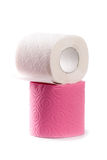 Two toilet paper rolls Royalty Free Stock Photos