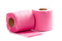 Two toilet paper rolls Royalty Free Stock Photo