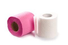 Two toilet paper rolls Royalty Free Stock Images