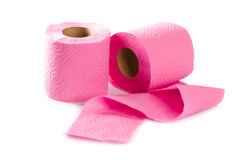 Two toilet paper rolls Stock Image
