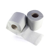 Two toilet rolls. Royalty Free Stock Photos