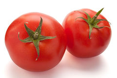 Two tomatoes Royalty Free Stock Photos