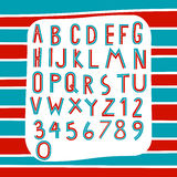 Two Tone Alphabet On Stripe Background Vector Royalty Free Stock Images