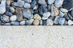 Two tone background stone and sand 1 Royalty Free Stock Images