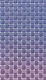 Two tone blue knitting vertical and horizontal mat for food plat Royalty Free Stock Photography