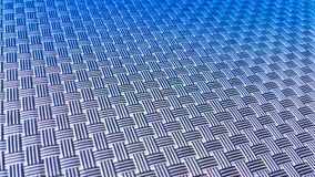 Two tone blue knitting vertical and horizontal mat for food plat Stock Images