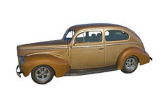 Two tone brown retro sedan Royalty Free Stock Images