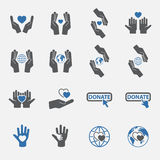 Two tone Charity icon set.vector. Royalty Free Stock Photography