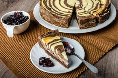 Two-tone cheesecake Royalty Free Stock Image