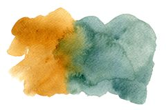 Two tone color watercolor gouache on white background royalty free illustration
