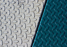 Two Tone Diamond Plate Royalty Free Stock Photography