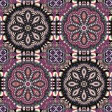 Two-tone fabulous pattern. You can use it for invitations, noteb. Ook covers, phone case, postcards, cards, ceramics, carpets and so on. Artwork for creative Royalty Free Stock Image