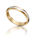 Two tone gold wedding ring Stock Photos