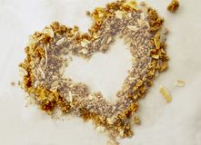 Two Tone Granola Heart Royalty Free Stock Image