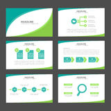Two tone green Infographic elements icon presentation template flat design set for advertising marketing brochure flyer Stock Photo