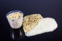 Two tone hearth rice Royalty Free Stock Photography