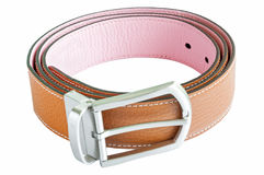 Two tone leather belt Stock Photo