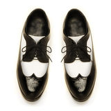 Two-tone patent leather men's shoes Royalty Free Stock Photo