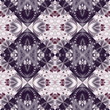 Two-tone seamless pattern with floral circle and square ornament Stock Photography