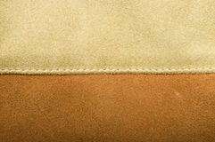Two-tone stitched suede. Texture. Background Royalty Free Stock Photos